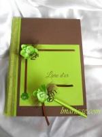 livre d'or orchidée anis et chocolat