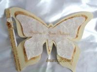 livre d'or papillon or et blanc