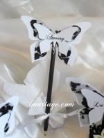 marque place papillon dentelle