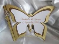 livre d'or papillon or