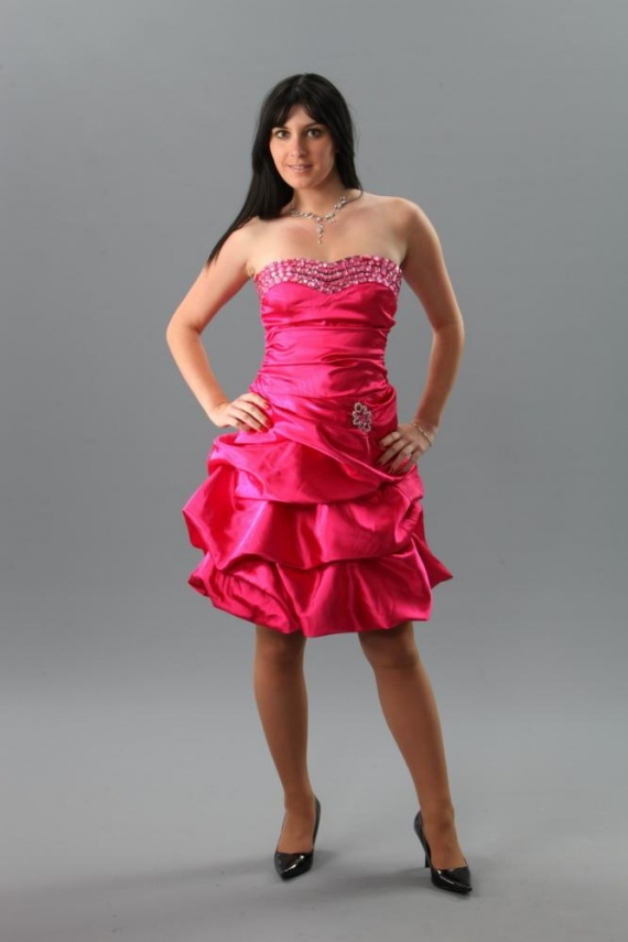 Robe,de,soiree,cocktail,Camelia,Fushia