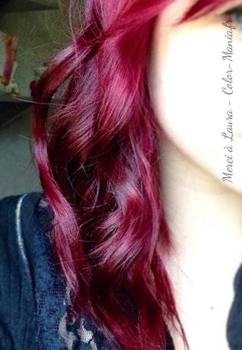 Coloration cheveux permanente rouge