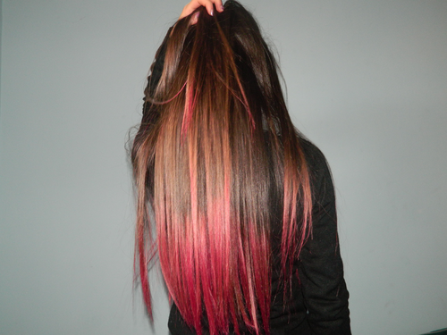 Couleur sur les pointes de cheveux