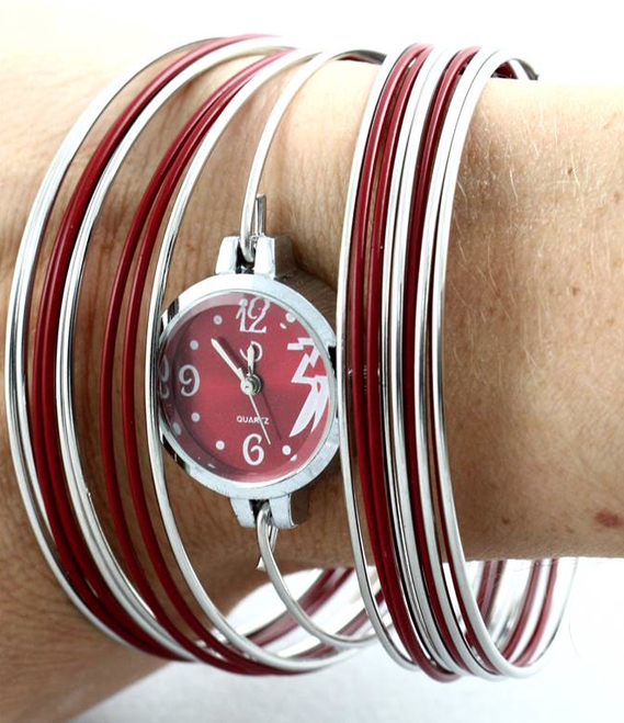 montre bracelet bordeaux 1