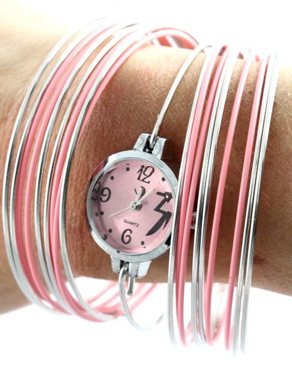 montre bracelet rose 1