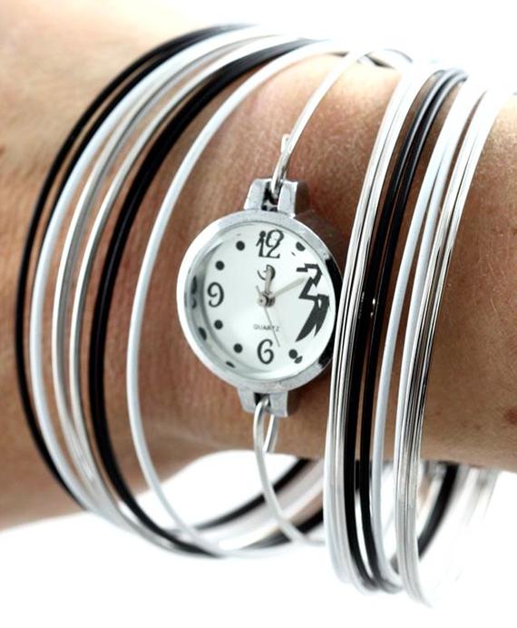 montre bracelet noir 1