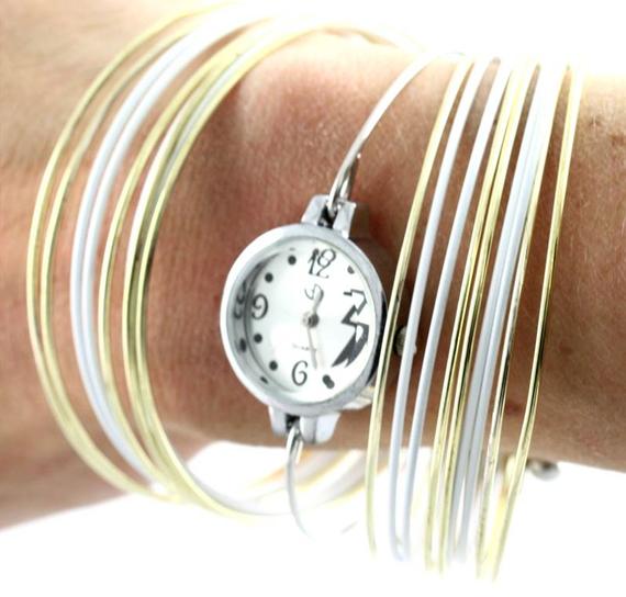 montre bracelet jaune doré 1