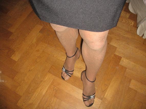sandales vues de haut