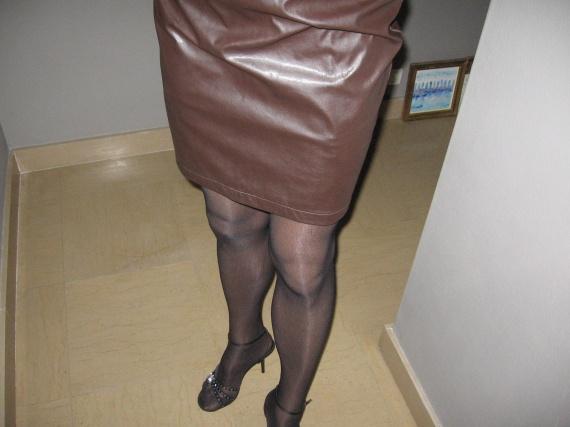 Corinne jupe cuir