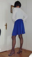 Corinne jupe bleue