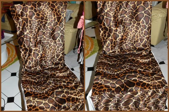 housse de chaise léopard