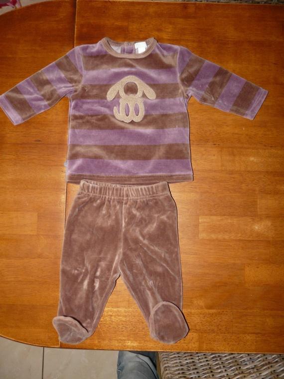 Pyjama 6m OBAIBI porté 3 fois 5euros