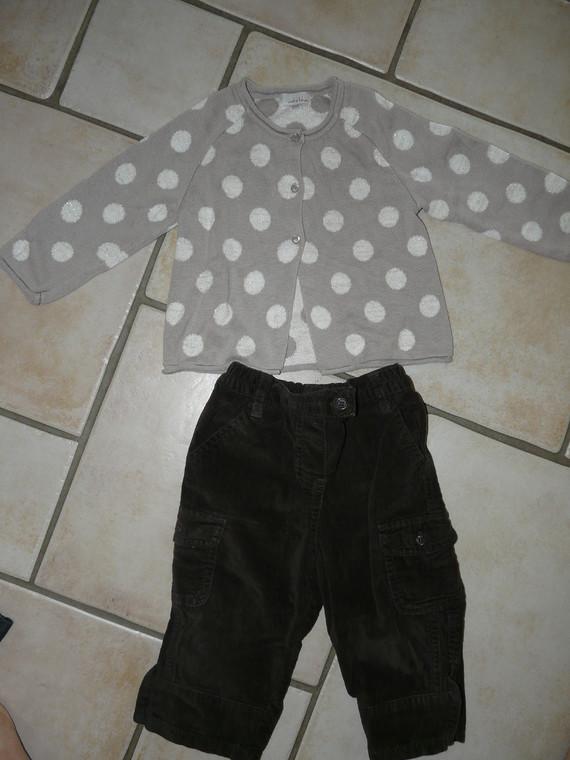 pantalon velours 4€