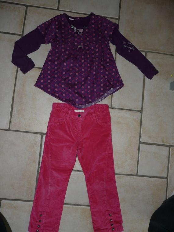 pantalon velours Kenzo 11€