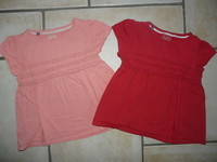 Tshirt rouge sergent major + l'orangé offert 6€