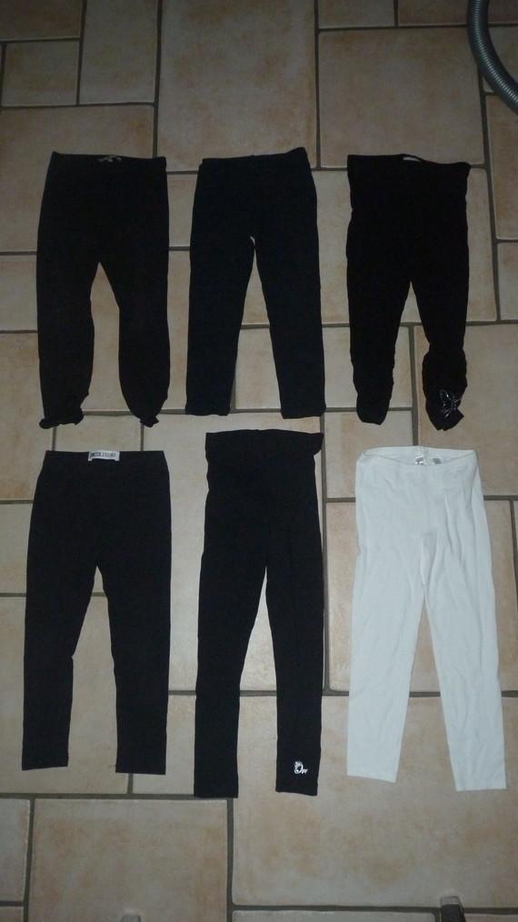 leggings noir en haut à droite