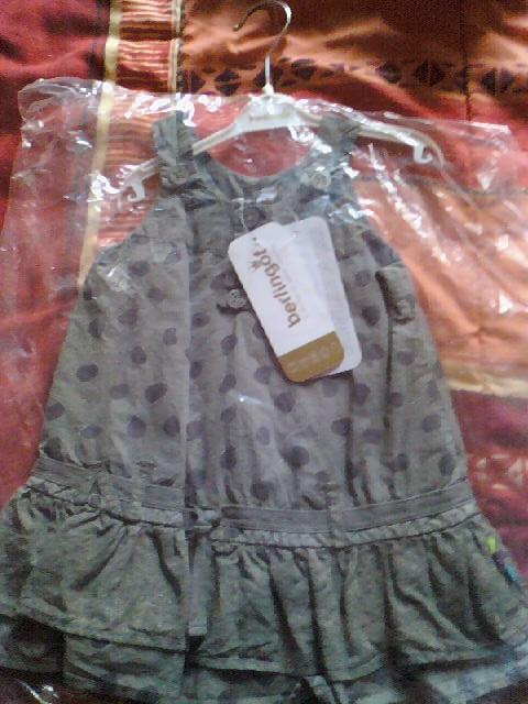 robe popeline taille 12 mois marque berlingot
