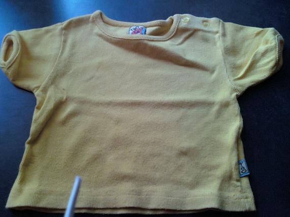 tee shirt jaune 18 mois