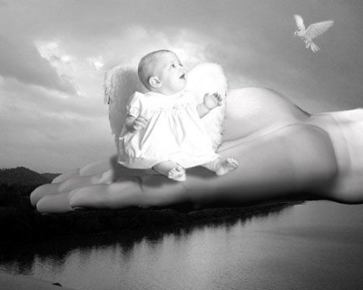 Un petit ange au creux de la main