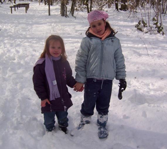 Avec sa cousine Kimberley