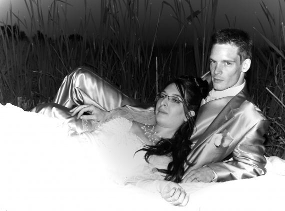 Photo couple retouchée
