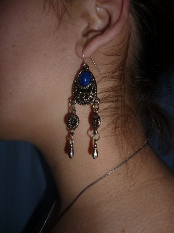 Parure boucle d'oreilles + collier (unique)
