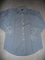 chemise yves dorsey bleu à carreaux taille 39/40 5€