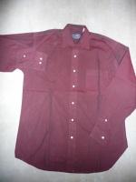 chemise yves dorsey 38/40 bordeau 5€