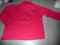 sous-pull rouge 8 ans TEX 1€
