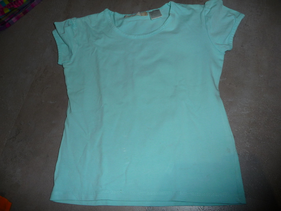 t-shirt la redoute bleu 8 ans 2€