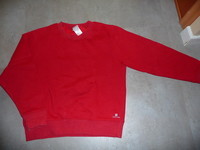 sweat domyos decathlon rouge taille 10 ans