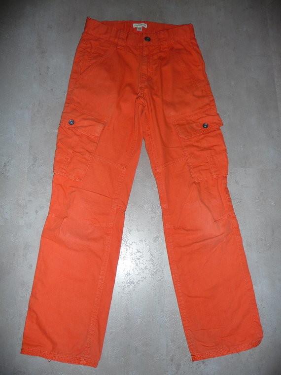 pantalon vertbaudet orange 10 ans