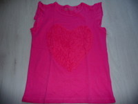 t-shirt ESPRIT coeur rose 8/9 ans