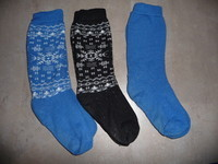 3 paires chaussettes ski 35/38 6€
