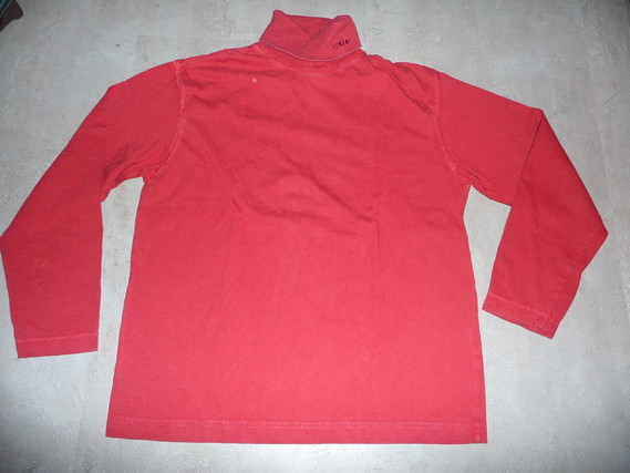 sous-pull rouge 10 ans