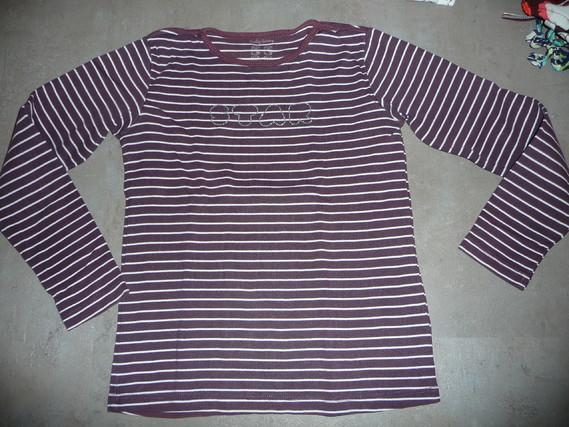 t-shirt tex raye marron 11/12 ans 2€