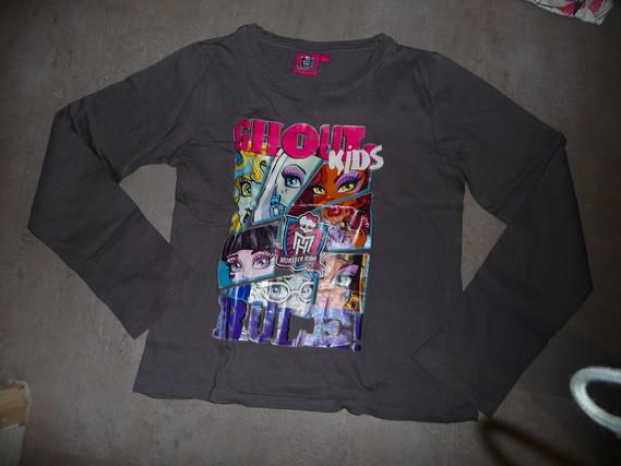 t-shirt monster high gris 9/10 ans 3€