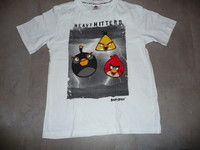 t-shirt angry birds 12 ans blanc 4€