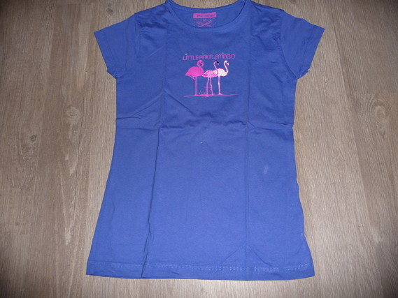 t-shirt flamand rose in extenso 10 ans 3€ neuf