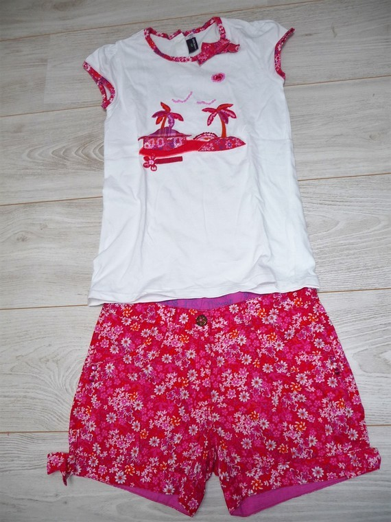 ensemble short sergent major 12 ans 15€