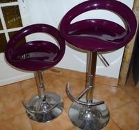 lot de 2 sièges de bar violet