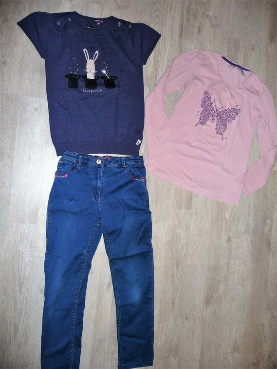 ensemble sergent major + t-shirt la redoute 11 ans 15€