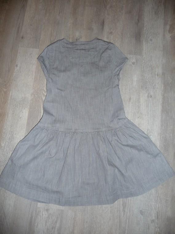 robe en jean gris chateau de sable 10 ans 10€