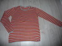 pull rayé orange gris DPAM 14 ans garçon