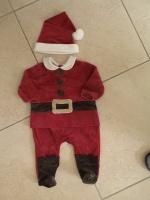 """Pyjama tout doux COCOON """"Père Noël"""" + le bonnet"""