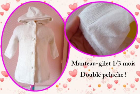 manteau gilet - 4 euros
