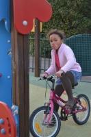 Maëline en vélo