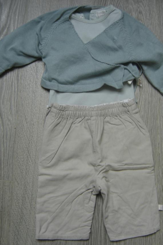 ensemble pantalon velour + body + gilet obaibi 6 euros - Copie
