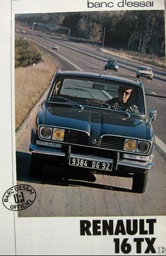 1973 Renault 16 Tx. LA RENAULT 16 TX AU BANC D#39;