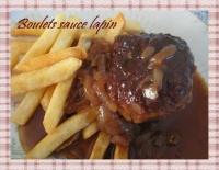 Boulet sauce Lapin